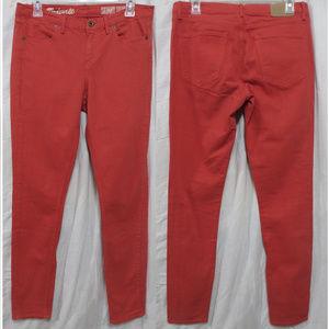 Madewell jeans 28x32 Skinny Skinny Colorpop